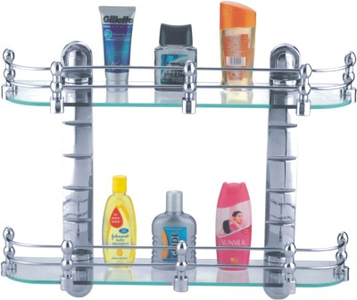 CIPLA Plast Bathroom Glass Set 2 - Shelf Rack Glass