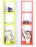 DCJC Ladder Wall Shelf Wooden Wall Shelf