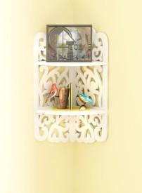 Home Sparkle 3 Tier Carved Corner MDF Wall Shelf