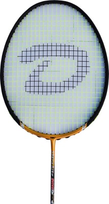 DSC Ultra Lite 900 Grey/Gold/White G4 Strung Badminton Racquet (Grey, Gold, White, Weight - 85 g)