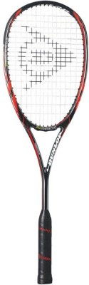 Dunlop Biomimetic PRO GT-X 140 HL Standard Strung Squash Racquet (Silver, Red, Grey, Weight - 135)