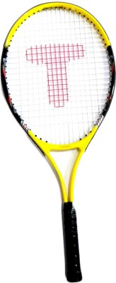 Tennex T-007 YELLOW Strung Tennis Racquet (Yellow, Black, Weight - 425)