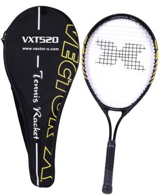 Vector X Vxt 520 25 inches with full cover 3# Strung Tennis Racquet (Yellow, Black, Weight - 228 g)
