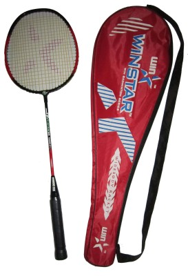 WINSTAR TURBO SLIM G4 Strung Badminton Racquet (Red, Black, Weight - 99 g)
