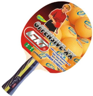 GKI Offensive XX with Wooden Case G4 Strung Table Tennis Racquet (Red, Black, Weight - 350 g)