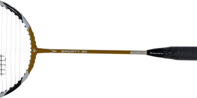 Thwack Sporty Gold 30 with Kit Bag G2 Strung Badminton Racquet (Gold, White, Black, Weight - 76 g)