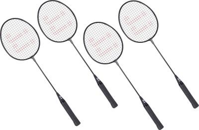 JJ Jonex ABG1 G4 Strung Badminton Racquet (Black, Weight - 0.400 g)
