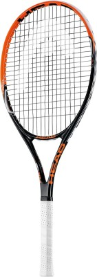 Head MX Cyber Tour G3 Strung Tennis Racquet (Orange, Black)