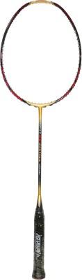 ASHAWAY RIBTEC 88 WOVEN TI HM G2 Unstrung Badminton Racquet (Black, Gold, Weight - 80 g)
