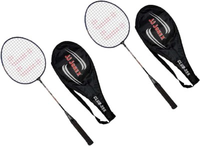 JJ JONEX CLUB-555 SETof 2 Strung Badminton Racquet (Multicolor, Weight - 220 g)