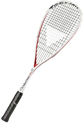 Tecnifibre Carboflex 130-S 4 Strung Squash Racquet (White, Red, Weight - 130)