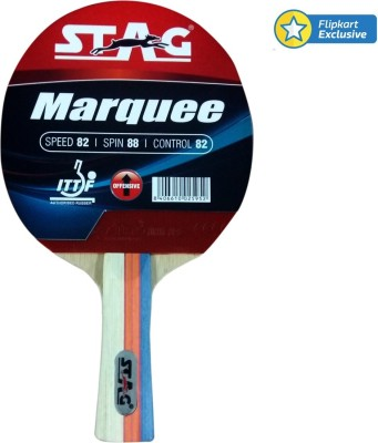Stag Marquee Table Tennis Racquet (Blue, Red, Weight - 190 g)