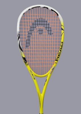 Head Neon 130 Strung Squash Racquet (Yellow, White, Weight - 130)