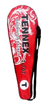 Tennex T-707 Strung Badminton Racquet (Red, Weight - 230)