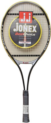Jonex BLACKEN_1008 G4 Strung Badminton Racquet (Black, Weight - 150 g)