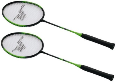 Vinex Nagasaki Badminton Racket G4 Strung Badminton Racquet (Black, Green, Weight - 140 g)
