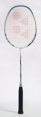 Yonex Nanoray Light 4i G4 Unstrung Badminton Racquet (Silver, White, Weight - 350 g)