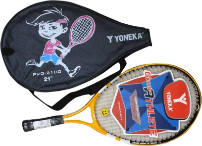 YONEKA 2100 6Inch Strung Tennis Racquet (Multicolor, Weight - 300 g)