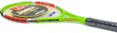 Jonex Star 25 Standards Unstrung Tennis Racquet (Green, Orange, White, Weight - 300 g)