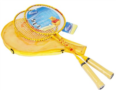 Disney Winnie The Pooh Strung Badminton Racquet (Yellow, Weight - 300)