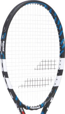 Babolat Pure Drive Junior 25 - Grip 00 G4 Strung Tennis Racquet (Black, Blue, Weight - 230 g)