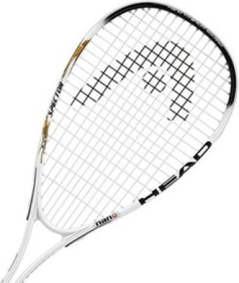 Head Nano Titanium Spector 2.0 L4 Strung Squash Racquet (Black, Weight - 195 g)