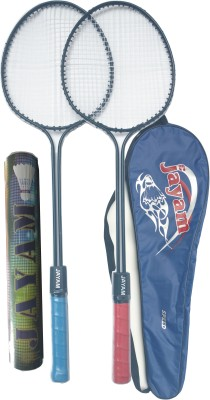 Jayam Speed (2 Racket,10 Pcs Shuttle,Bag) G3 Strung Badminton Racquet (Multicolor, Weight - 400 g)
