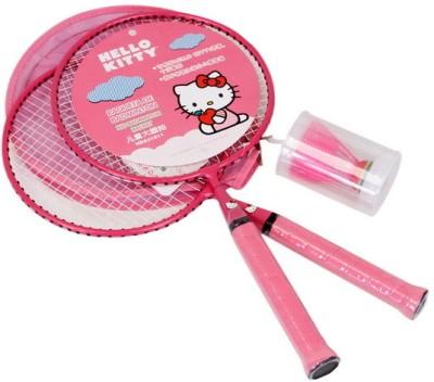Disney Hello Kitty Kids Strung Badminton Racquet (Pink, Weight - 300)