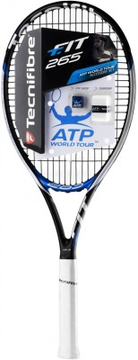 Tecnifibre T-FIT 265 G3 Strung Tennis Racquet (Black, Weight - 265 g)
