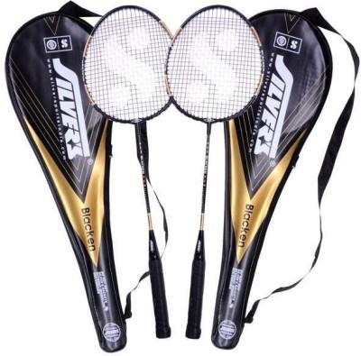 Silver's Blacken G4 Strung Badminton Racquet (Black, Weight - 590 g)