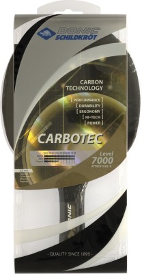 Donic Carbotec 7000 Table Tennis Racquet (Black, Weight - 350 g)