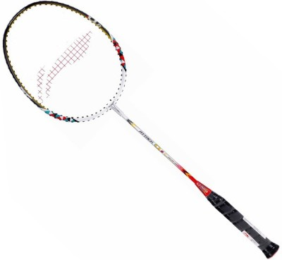 Li-Ning Attack Q 8 S2 Unstrung Badminton Racquet (White, Yellow, Weight - 89 g)