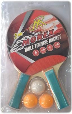 Morex 3 Star Unstrung Table Tennis Racquet (Multicolor, Weight - 350 g)