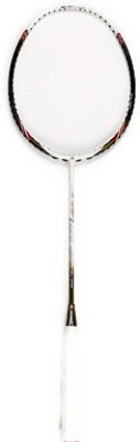 Ashaway Superlight 6 G2 Unstrung Badminton Racquet (White, Black, Weight - 5U)