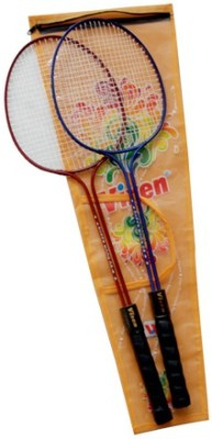 Vixen Double Shaft Gift Set 1.25 Strung Badminton Racquet (Multicolor, Weight - 345 g)
