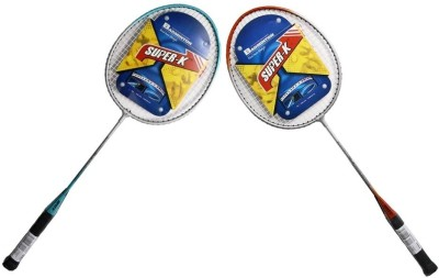 Super-K Ferroalloy G4 Badminton Racquet (Red, Blue, Weight - 400)