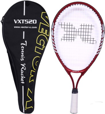 Vector X Vxt 520 21 inches with full cover 1# Strung Tennis Racquet (Red, White, Weight - 197 g)