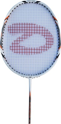 DSC Dx-55 White/Black/Orange G4 Strung Badminton Racquet (White, Black, Orange, Weight - 85 g)
