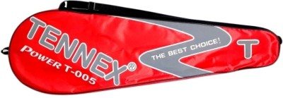 Tennex Badminton Racket T005 Strung Badminton Racquet (Red, Weight - 248)