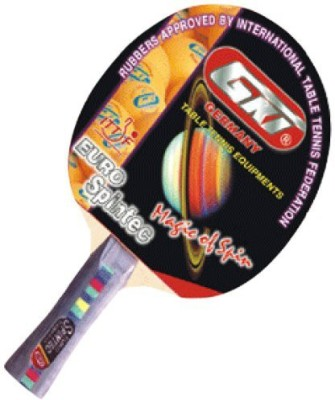 GKI Euro Spintec . Strung Table Tennis Racquet (Multicolor, Weight - 250 g)