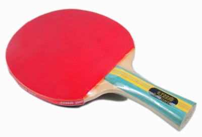 Double Happiness S-S202 G4 Strung Table Tennis Paddle (Black, Red, Weight - 3U)