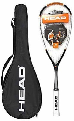 Head Nano TI 120 G4 Strung Squash Racquet (White, Black, Weight - 120 g)