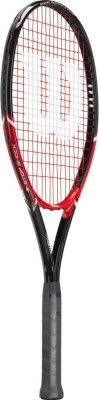 Wilson Fusion XL 4 3/8 Inch Strung Tennis Racquet (Red, Weight - 350 g)
