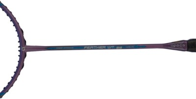 APACS Feather Weight 55 WITH Lether Cover G0 Unstrung Badminton Racquet (Multicolor, Weight - 59 g)