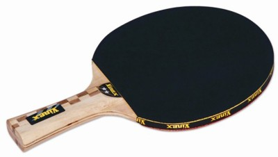 Vinex Bat - Challenge 2 Star Strung Table Tennis Racquet (Black, Weight - 490 g)