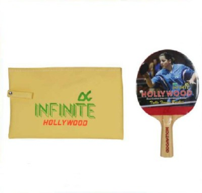 INFINITE HOLLYWOOD Unstrung Table Tennis Racquet (Red, Black, Weight - 150 g)
