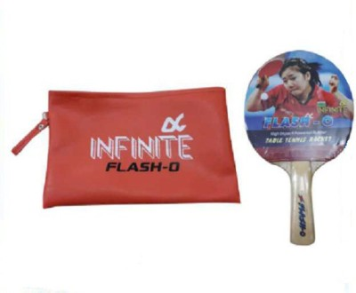 INFINITE FLASH-O Table Tennis Racquet (Red, Weight - 150 g)