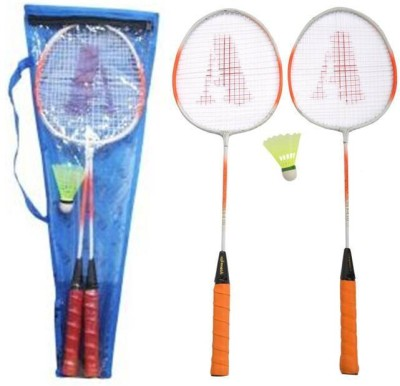 Smash Striped Strung Badminton Racquet (Multicolor, Weight - 300 g)