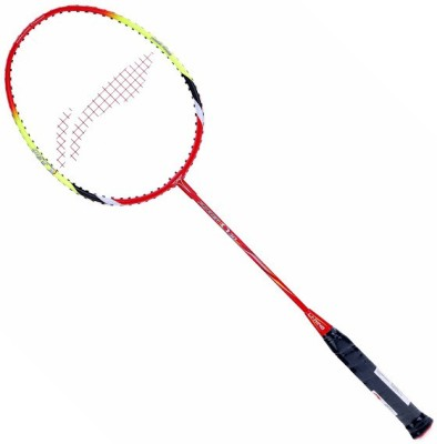 Li-Ning Power Q 30 S2 Unstrung Badminton Racquet (Red, Yellow, Weight - 89 g)