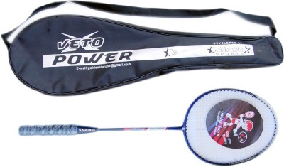 Golden Star Veto Power G4 Strung Badminton Racquet (Blue, Red, Weight - 350 g)